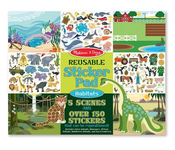 Reusable Sticker Pad: Habitats