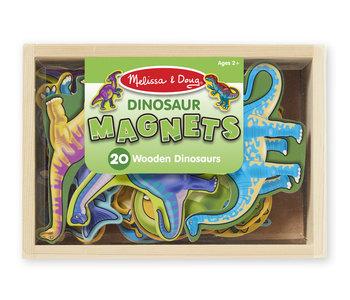 Wooden Dinosaur Magnets Set
