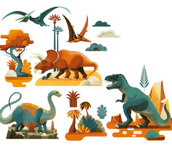 Dinosaur Window Stickers