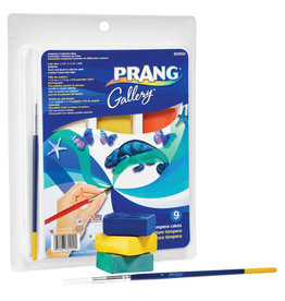 Prang Tempera Cake Set 9 Colours w Brush
