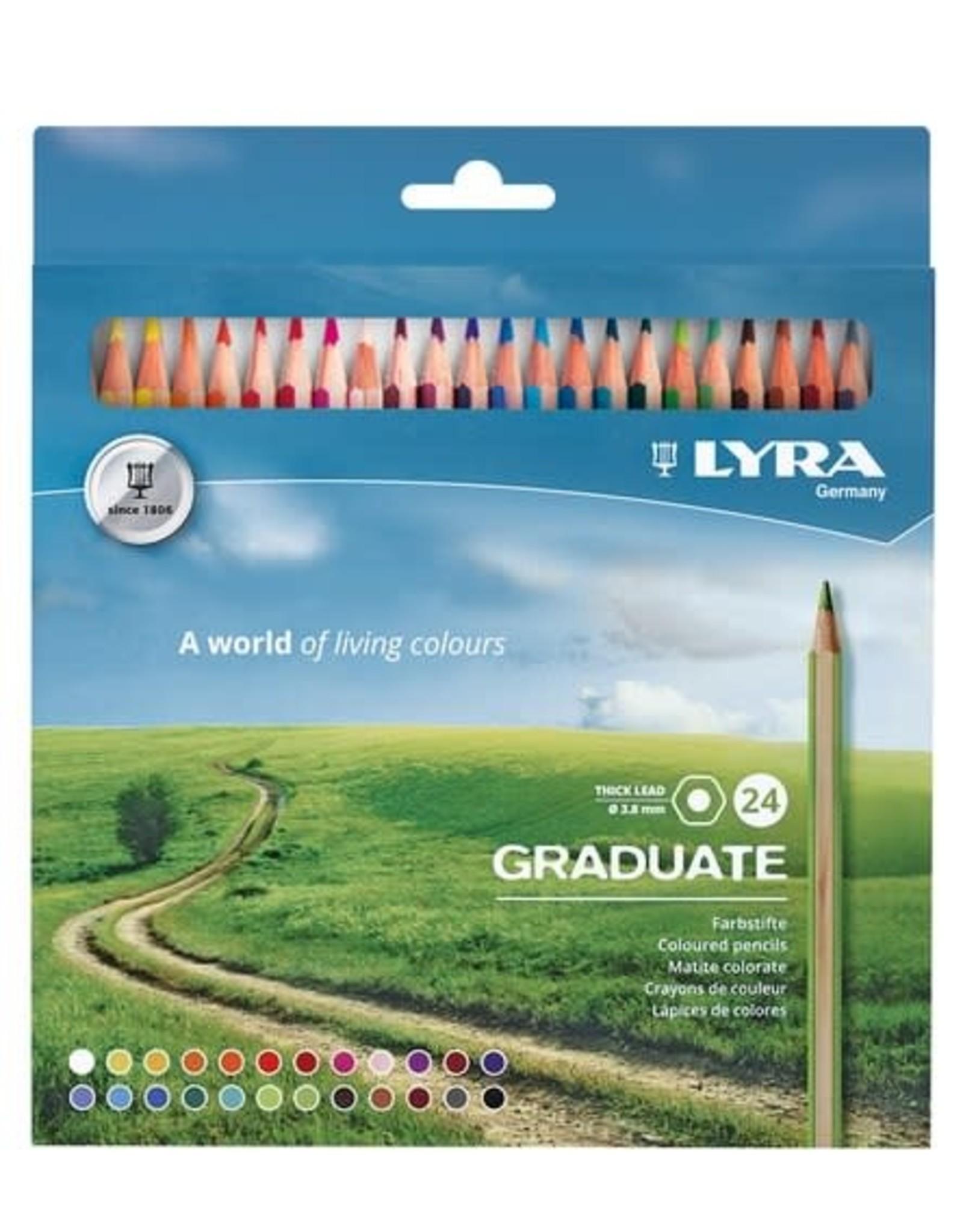 LYRA Graduate Coloured Pencil Set 24pc