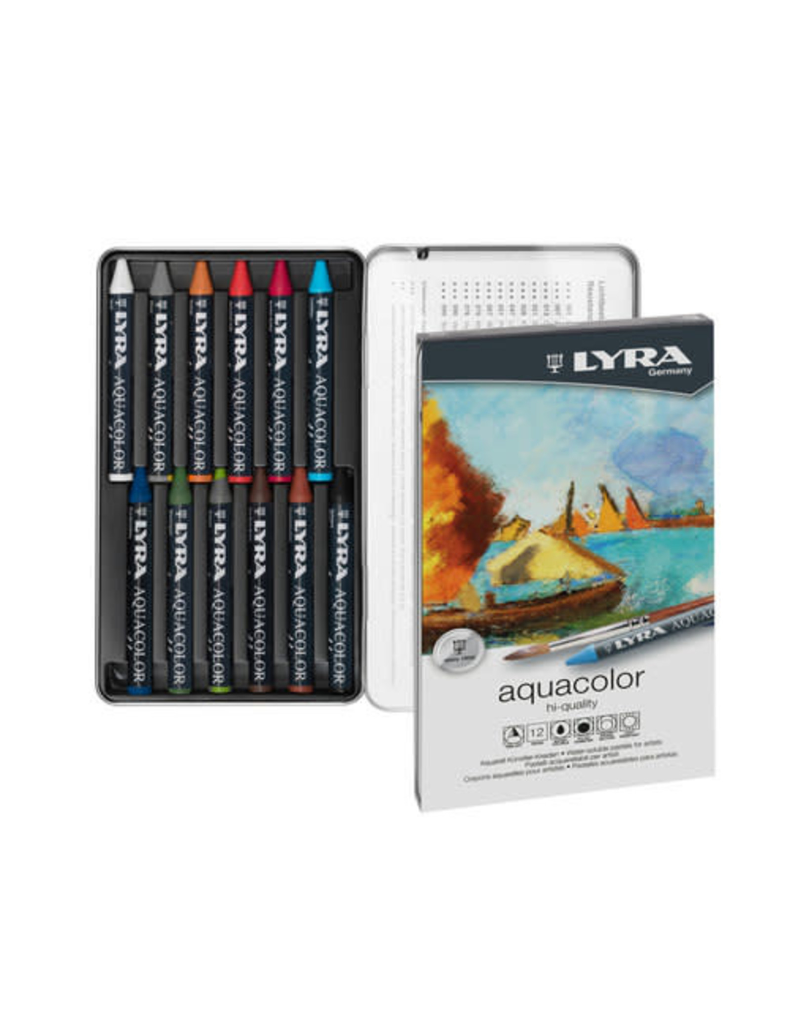LYRA LYRA Aquacolor Watersoluble Crayons 12pc