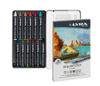 LYRA Aquacolor Watersoluble Crayons 12pc