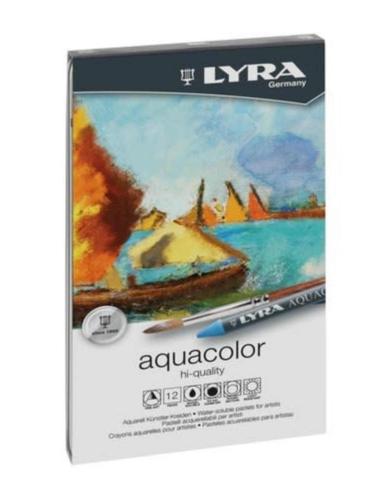 LYRA LYRA Aquacolor Watersoluble Crayons 12pc