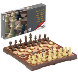 CAYRO Magnetic Chess & Draught Set medium