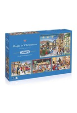 GIBSONS Magic of Christmas 4X500pc Puzzle