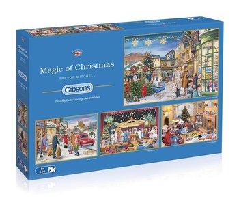 Magic of Christmas 4X500pc Puzzle
