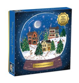Galison Winter Snow Globe 500pc Puzzle