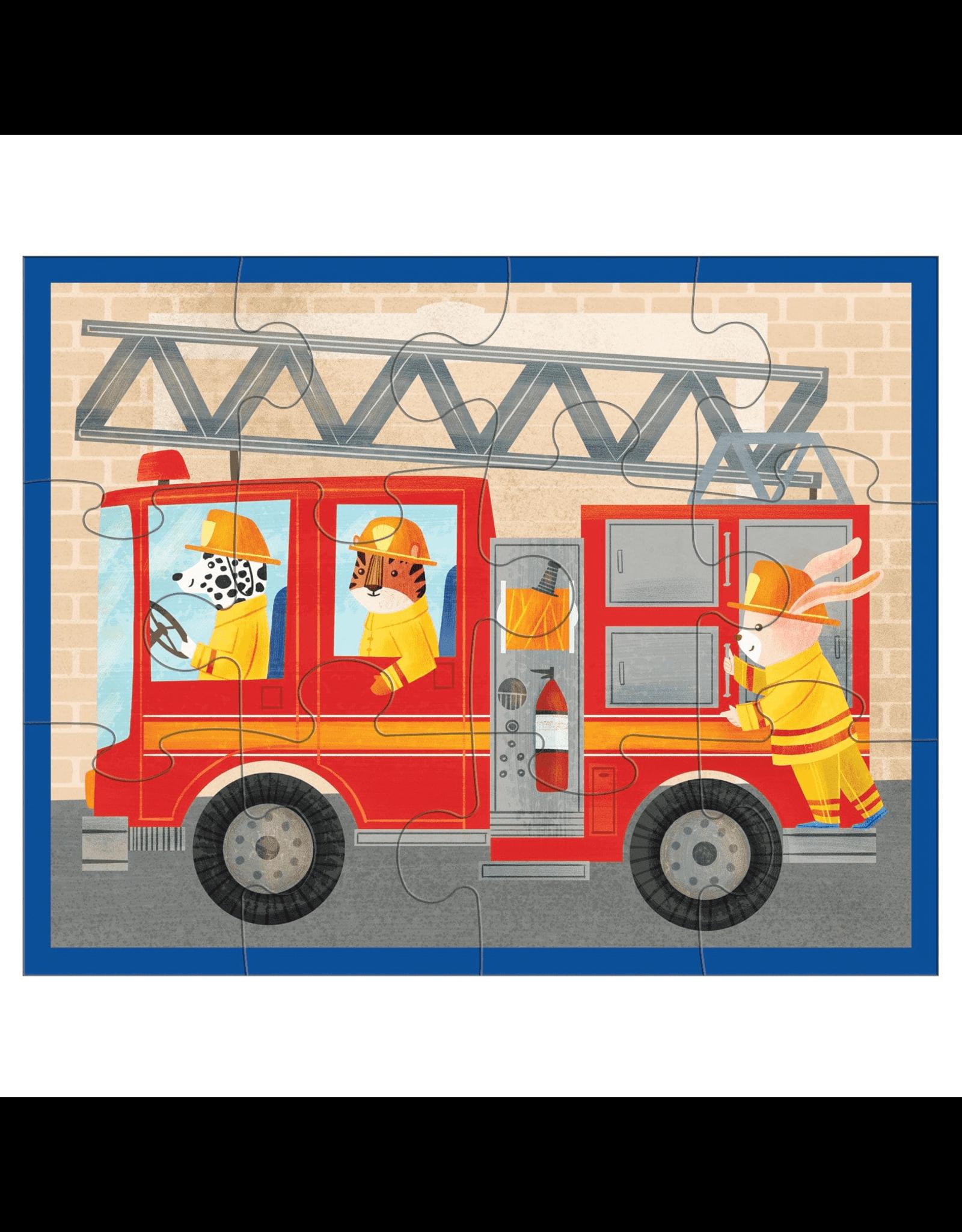 Mudpuppy Fire Truck 12pc Pouch Puzzle
