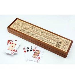 Mind Matters Wooden Cribbage Board C/W Piatnik Cards