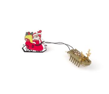 HEXBUG Nano Reindeer pulling Santa in Sleigh