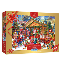 GIBSONS This Way To Santa 1000pc Puzzle