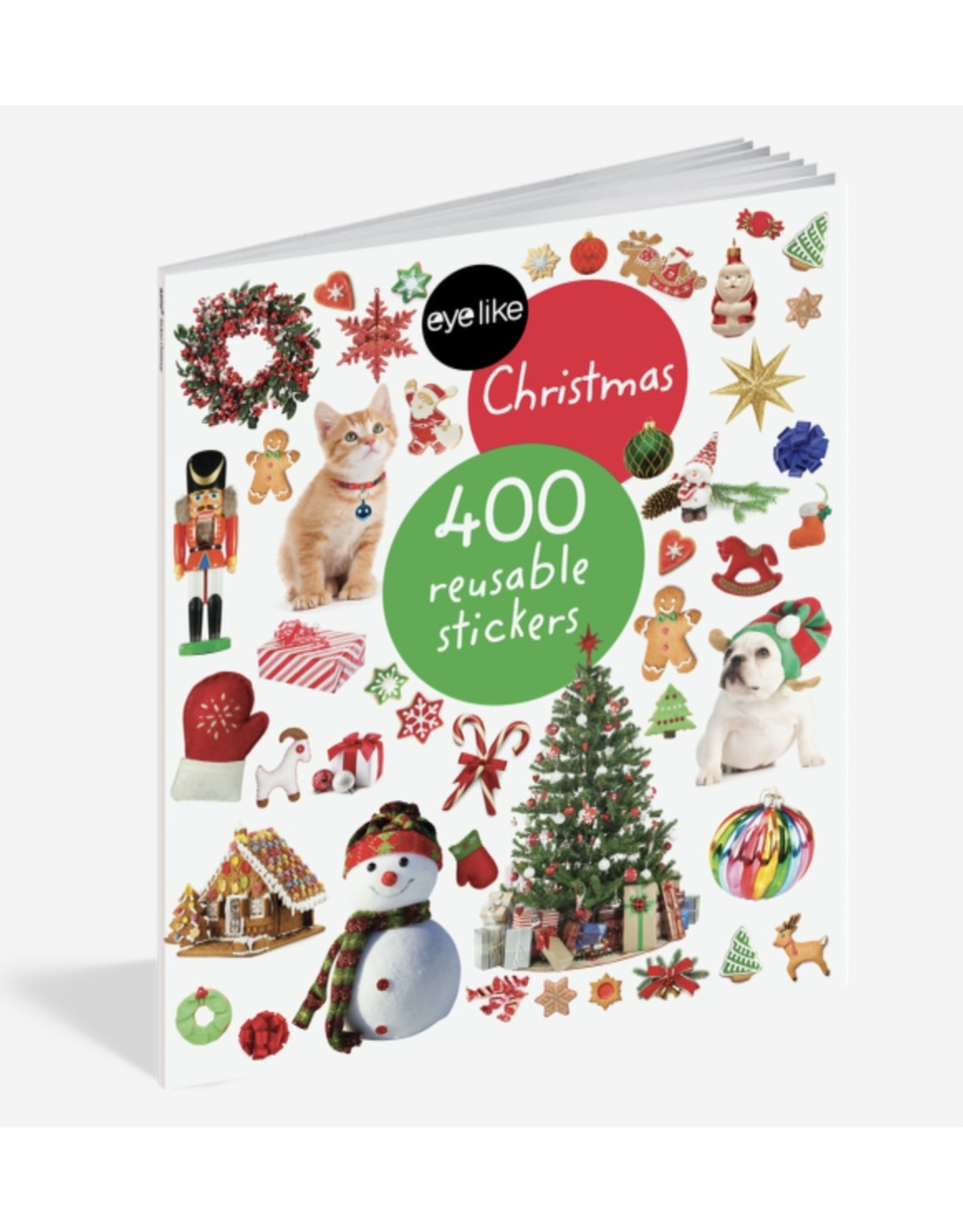 eye like Christmas 400 Reusable stickers