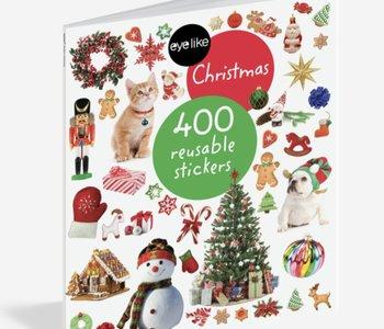 eye like Christmas 400 Reusable stickers