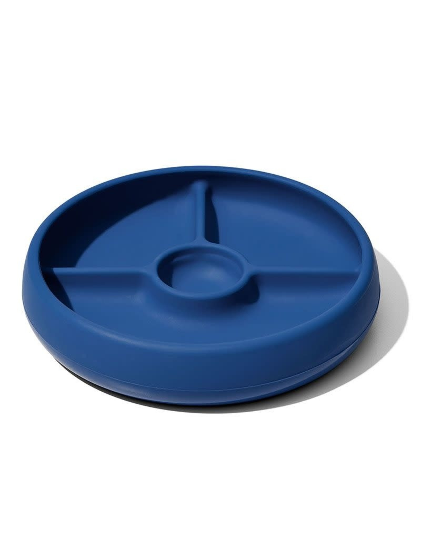 OXO Tot OXO Tot Silicone Divided Plate navy