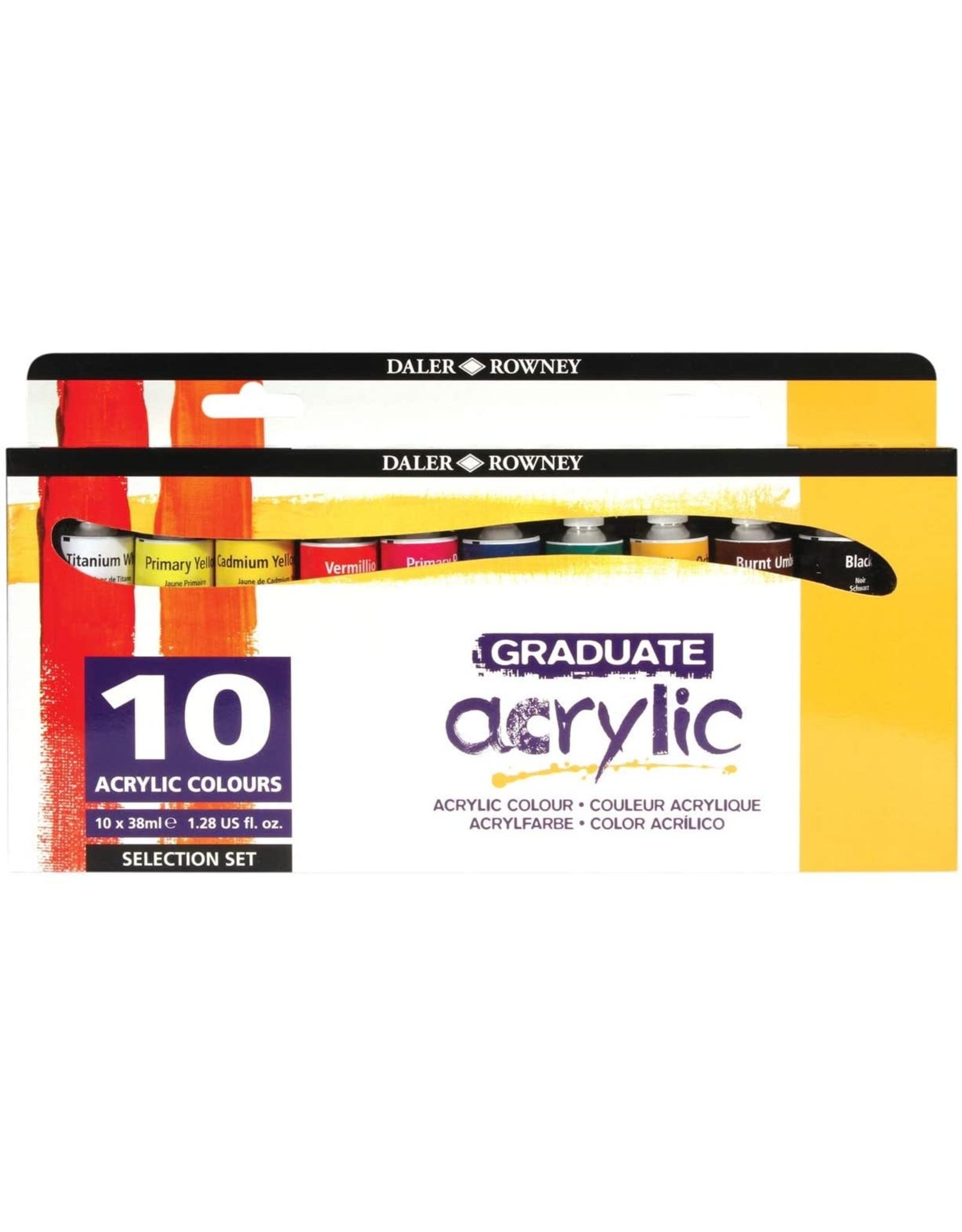 Daler Rowney Graduate Acrylic Intro Set 10x38ml
