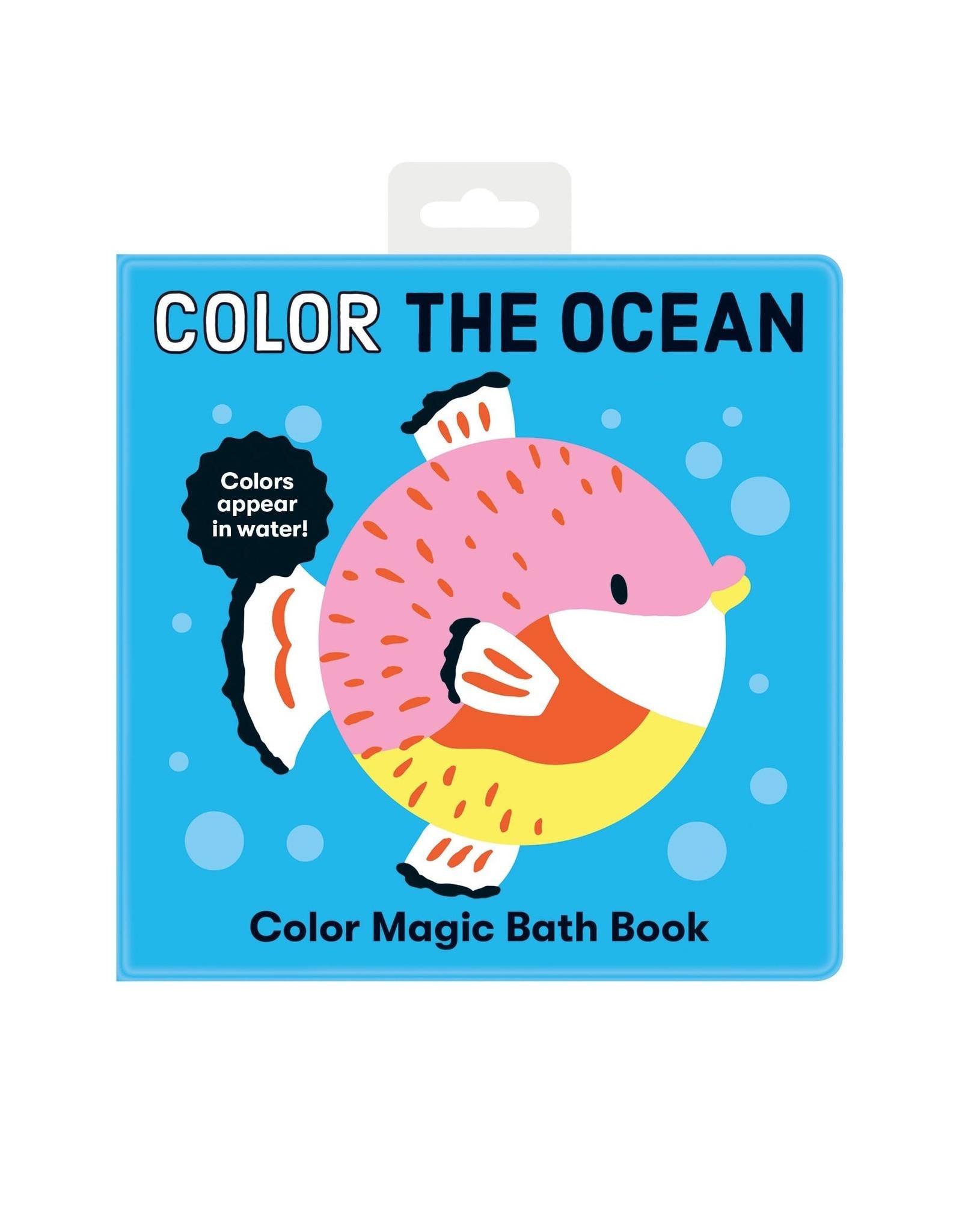 Mudpuppy Color the Ocean Bath Book