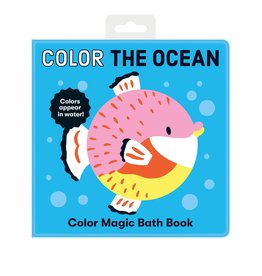 Mudpuppy Color the Ocean Bath Book