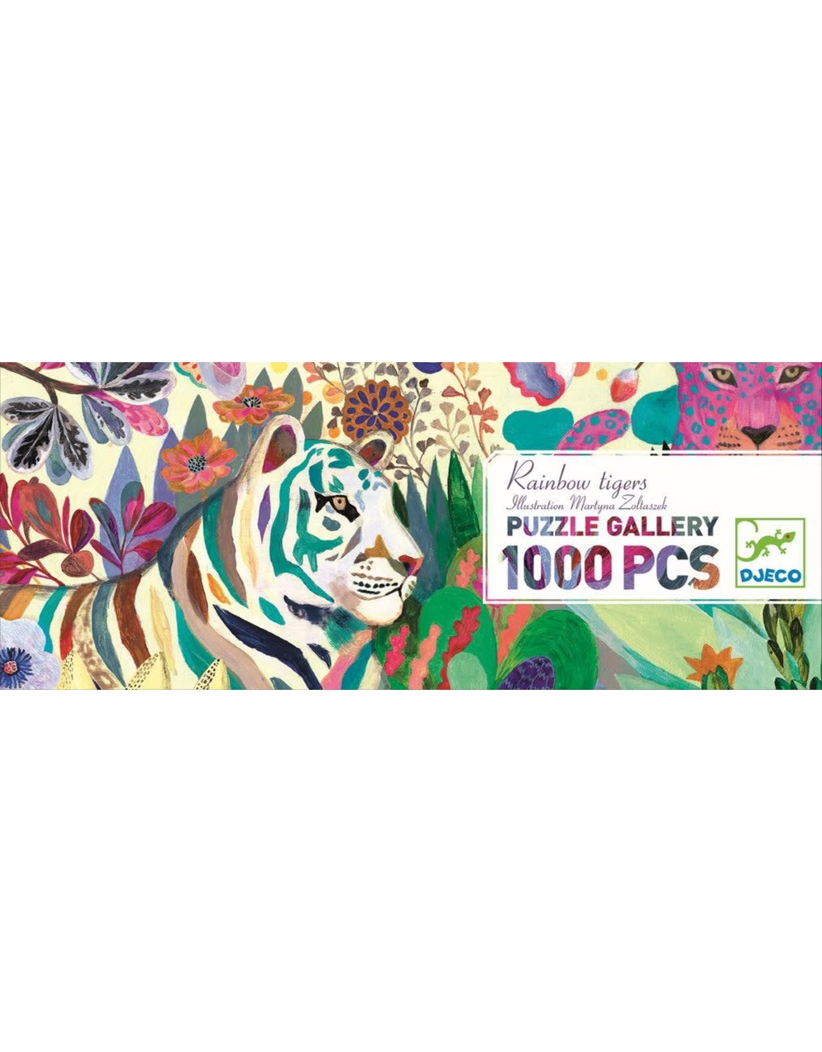 Djeco Rainbow Tigers 1000pc Puzzle