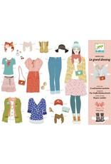 Djeco Well Stocked Wardrobe Paper Doll Set