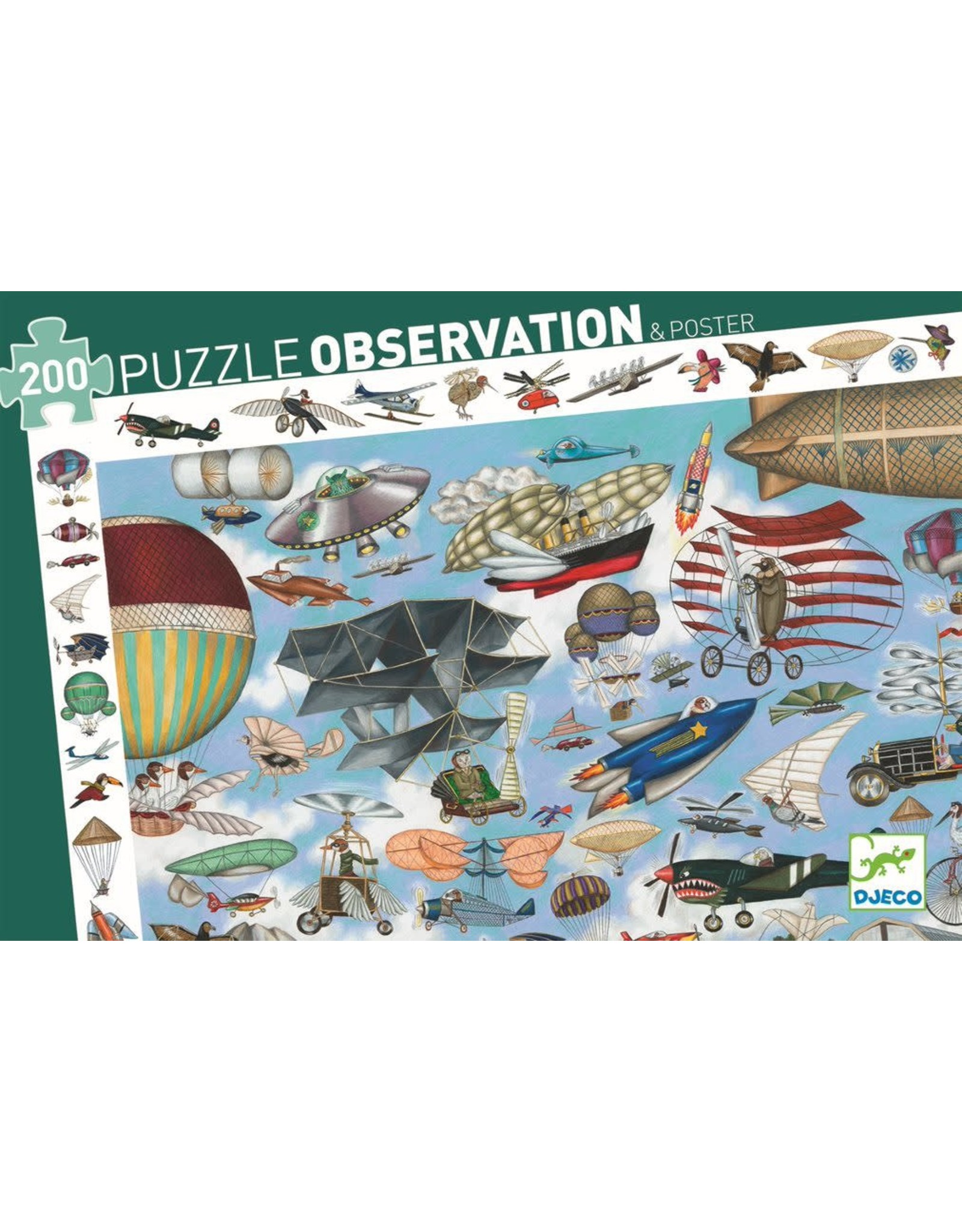Djeco Aero Club 200pc Observation Puzzle
