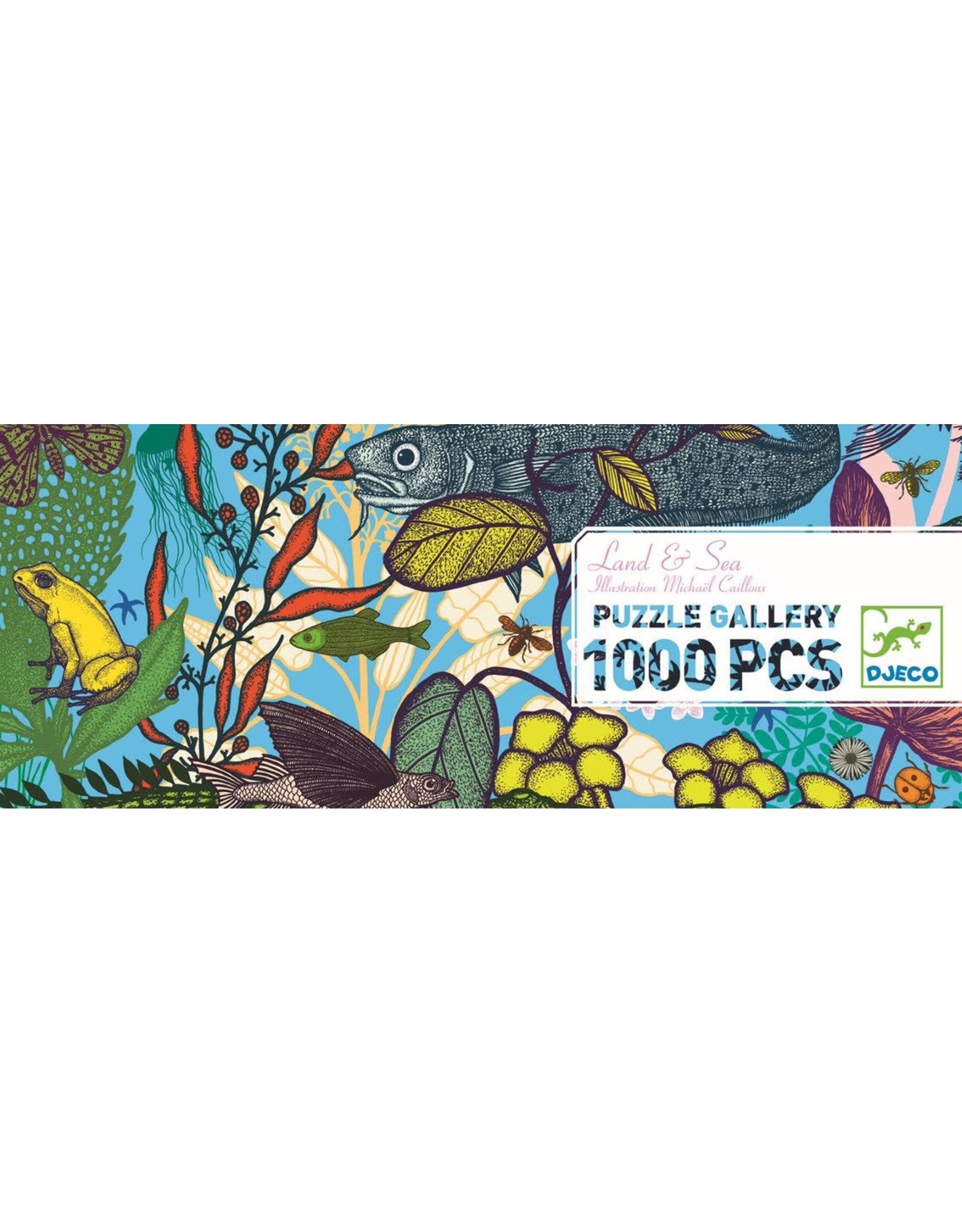 Djeco Land & Sea 1000pc Puzzle