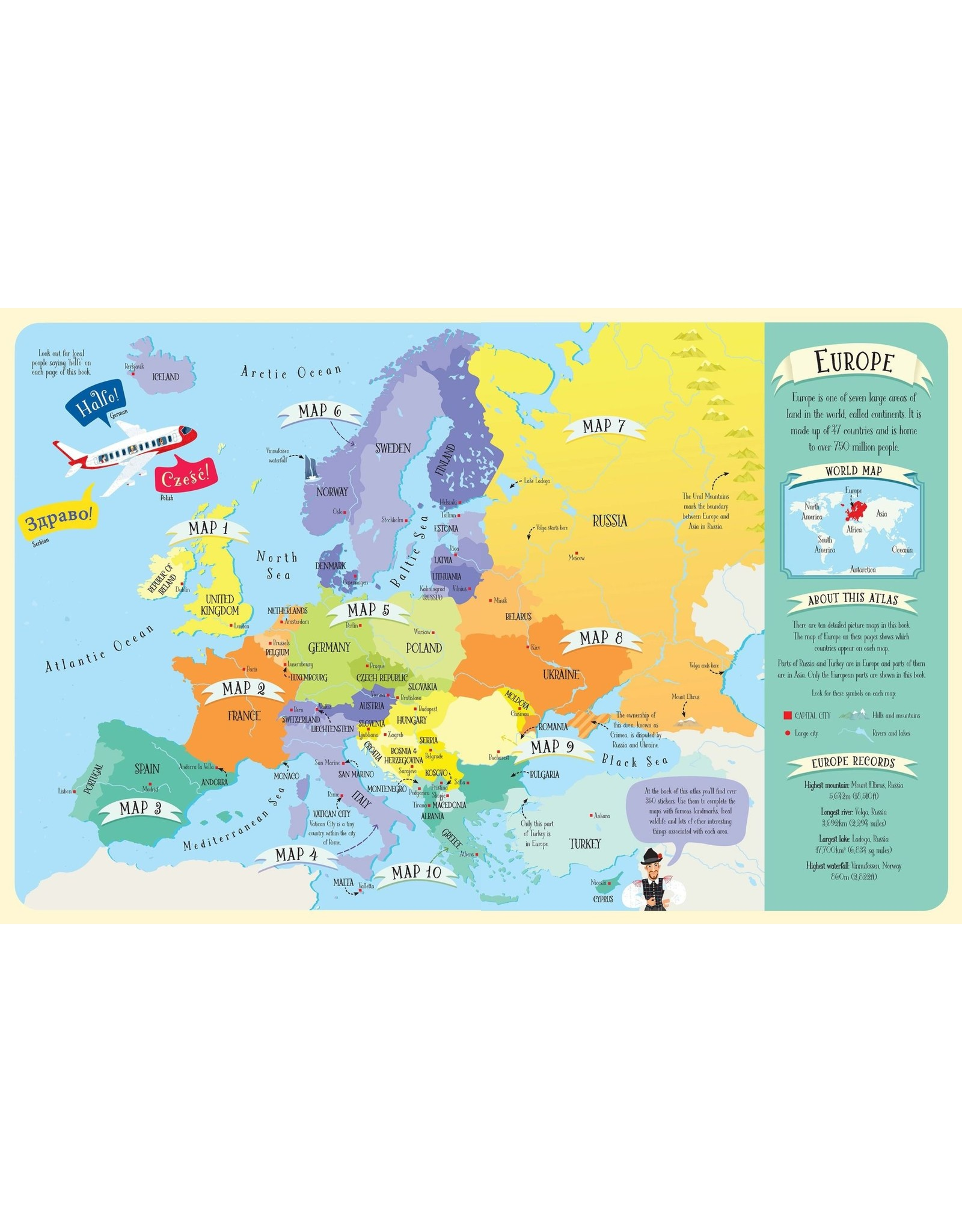 Usborne Sticker Picture Atlas of Europe