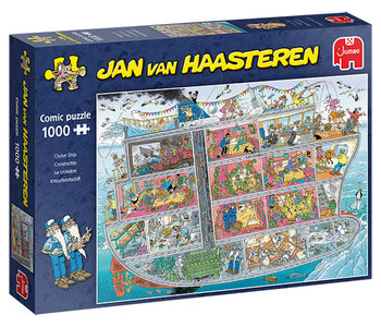 Cruise Ship Jan van Haasteren 1000pc Puzzle