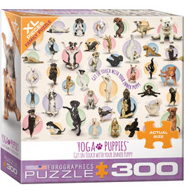 Eurographics Yoga Puppies 300pc XL Puzzle