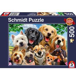 Schmidt Dog Selfie 500pc Puzzle