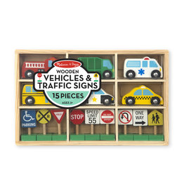 Melissa & Doug Wooden Vehicles & Traffic Signs
