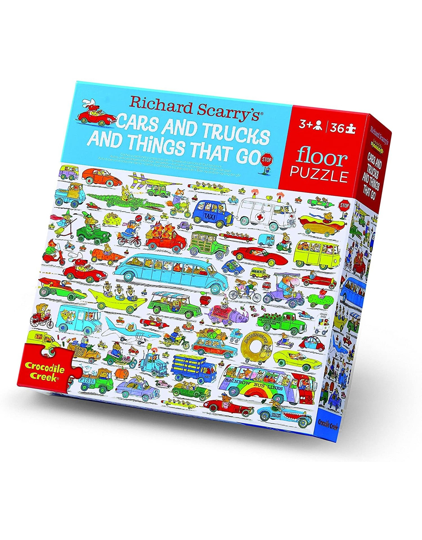 Crocodile Creek Richard Scarry's Cars & Trucks and Things That Go 36pc Floor Puzzle