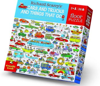 Richard Scarry's Cars & Trucks and Things That Go 36pc Floor Puzzle