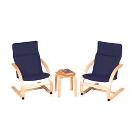 Guidecraft Nordic Kiddie Rocker Chair Set - blue