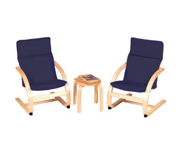 Nordic Kiddie Rocker Chair Set - blue