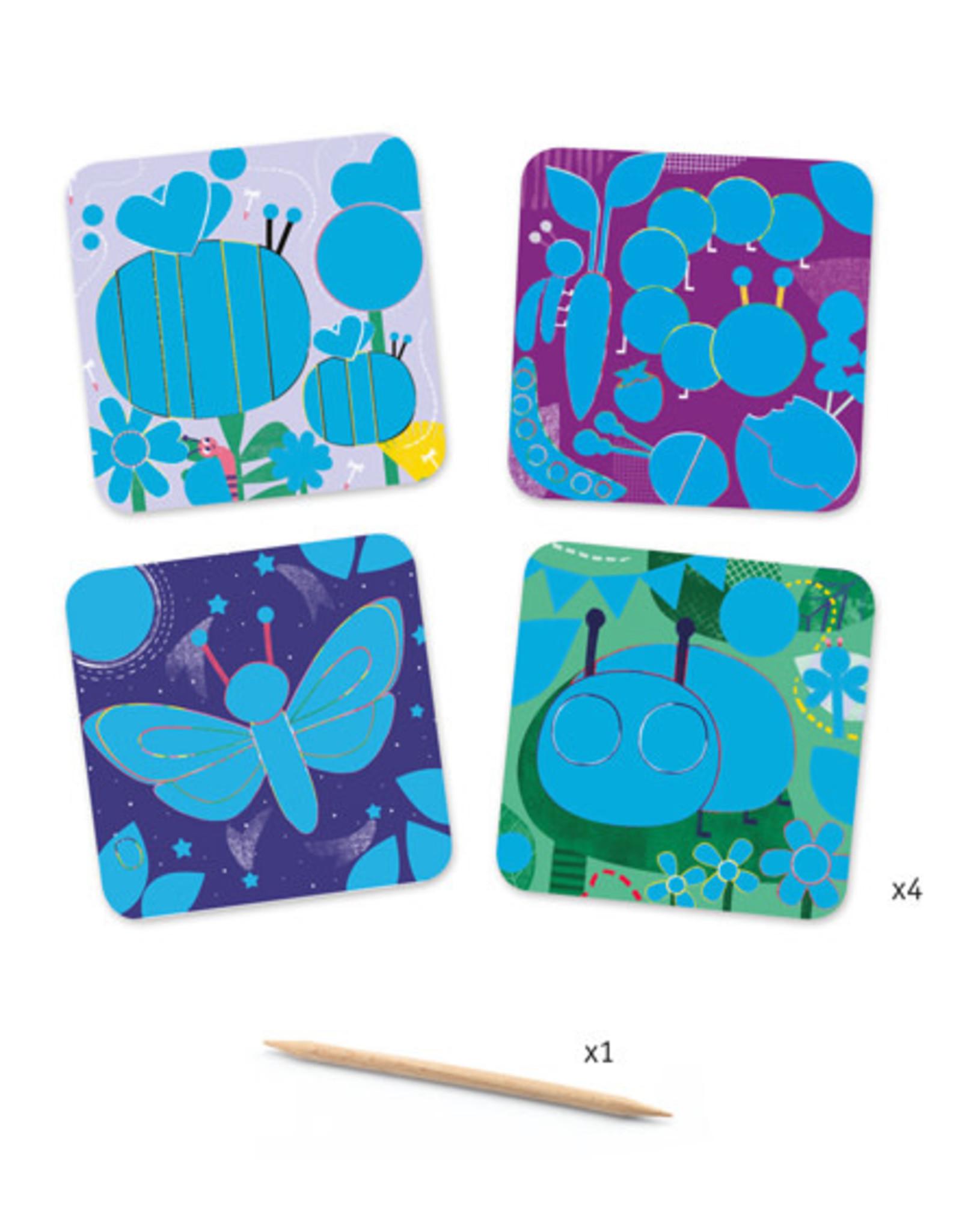 Djeco Bugs Scratch Cards