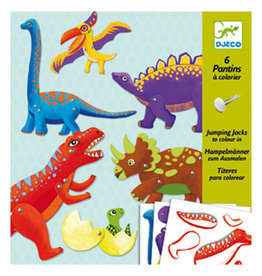 Djeco Jumping Jacks Colour-In Dinosaurs