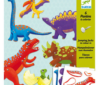 Jumping Jacks Colour-In Dinosaurs