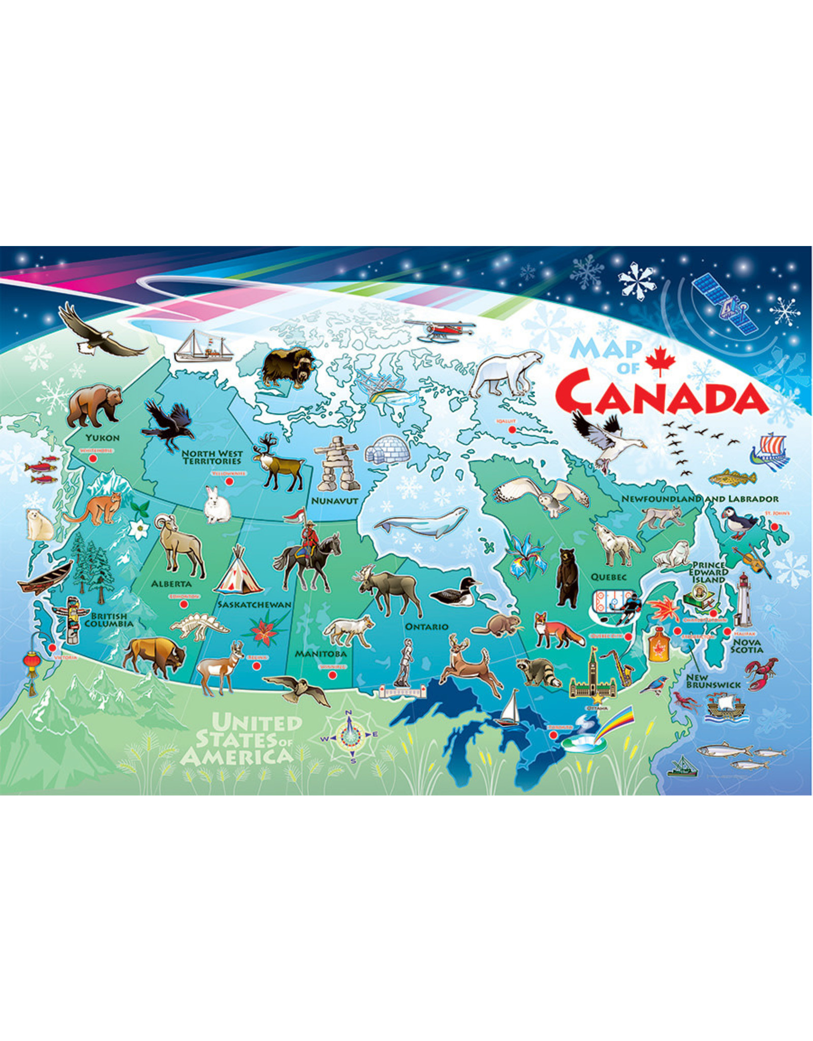 Cobble Hill Map of Canada 48pc Floor Puzzle