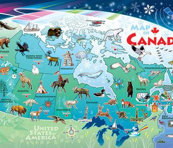 Map of Canada 48pc Floor Puzzle