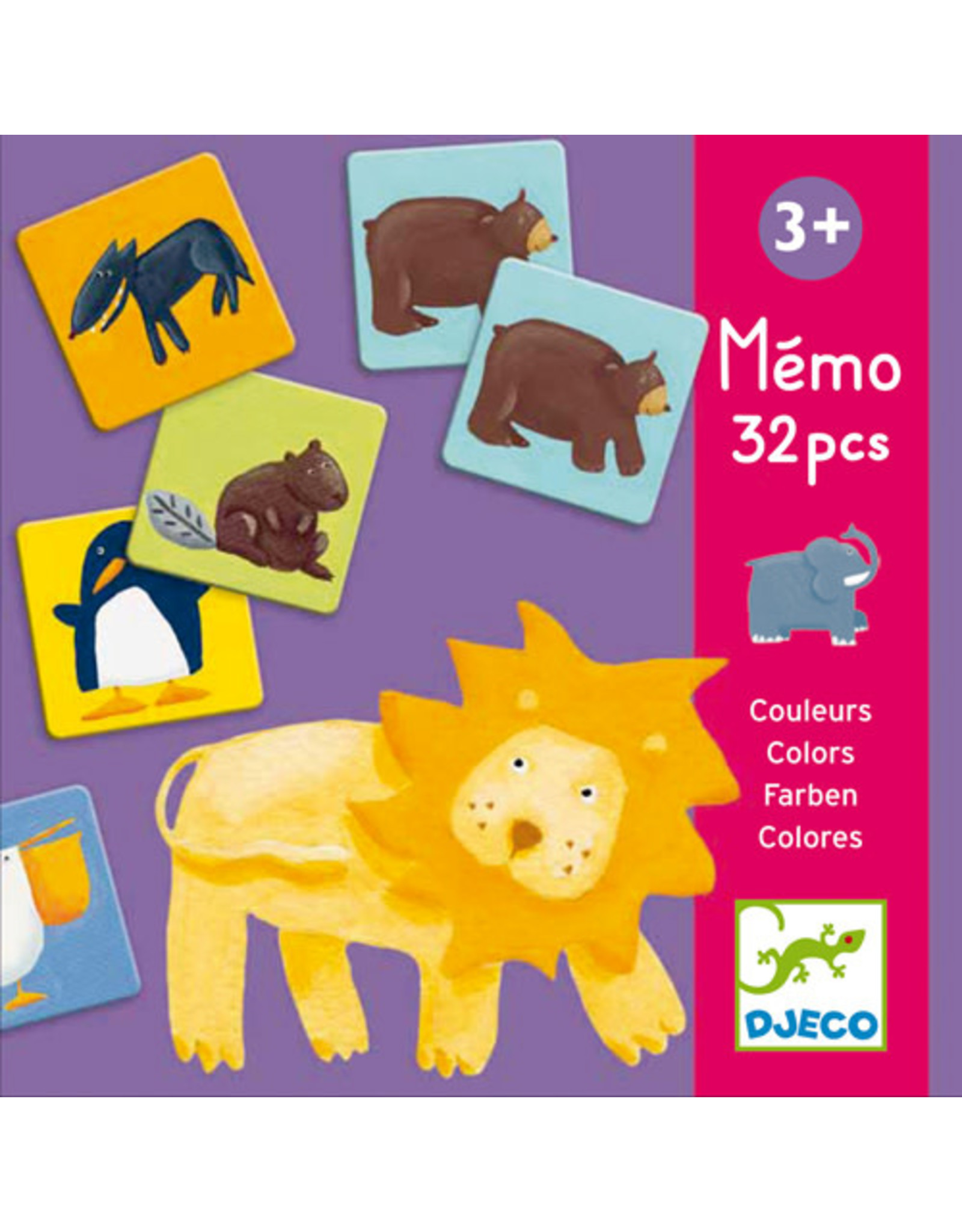 Djeco Colour Animals Memory Game