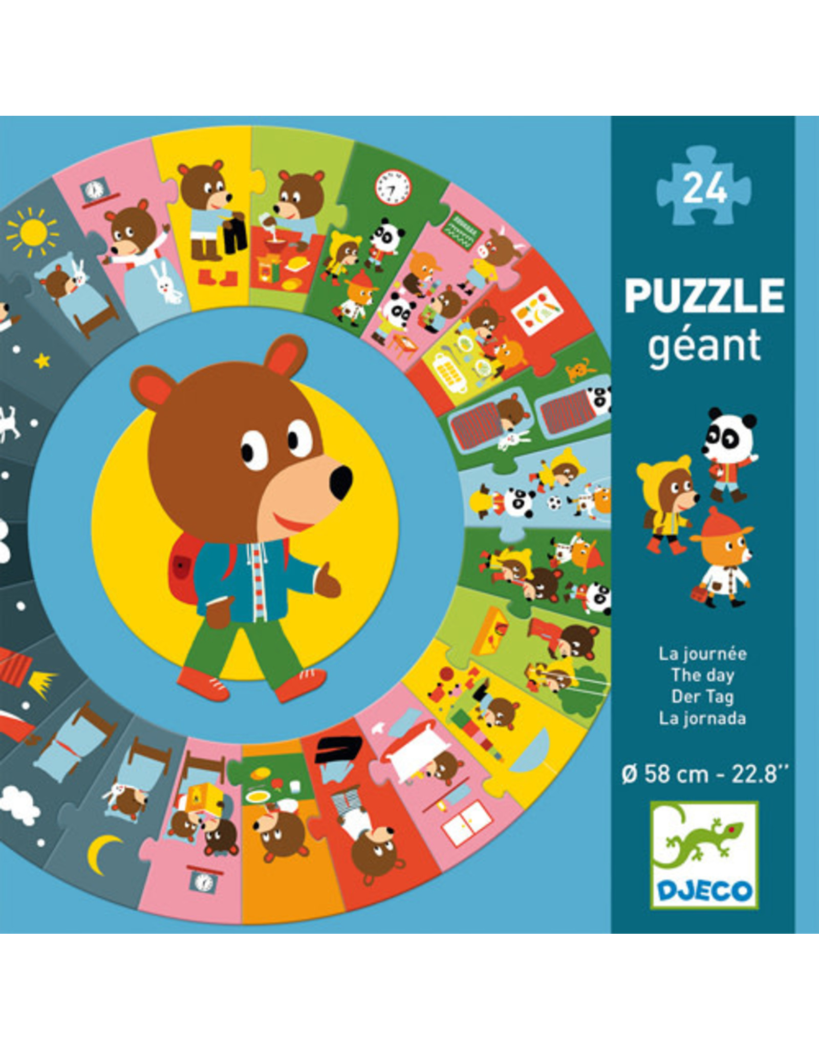 Djeco The Day 24pc Puzzle