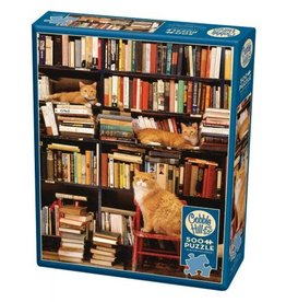 Cobble Hill Gotham Bookstore Cats 500pc Puzzle