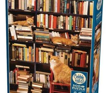 Gotham Bookstore Cats 500pc Puzzle