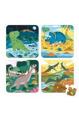 Janod Dinosaurs 4 in 1 Progressive Puzzle