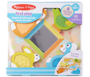 Touch and Feel Puzzle Peekaboo Pets