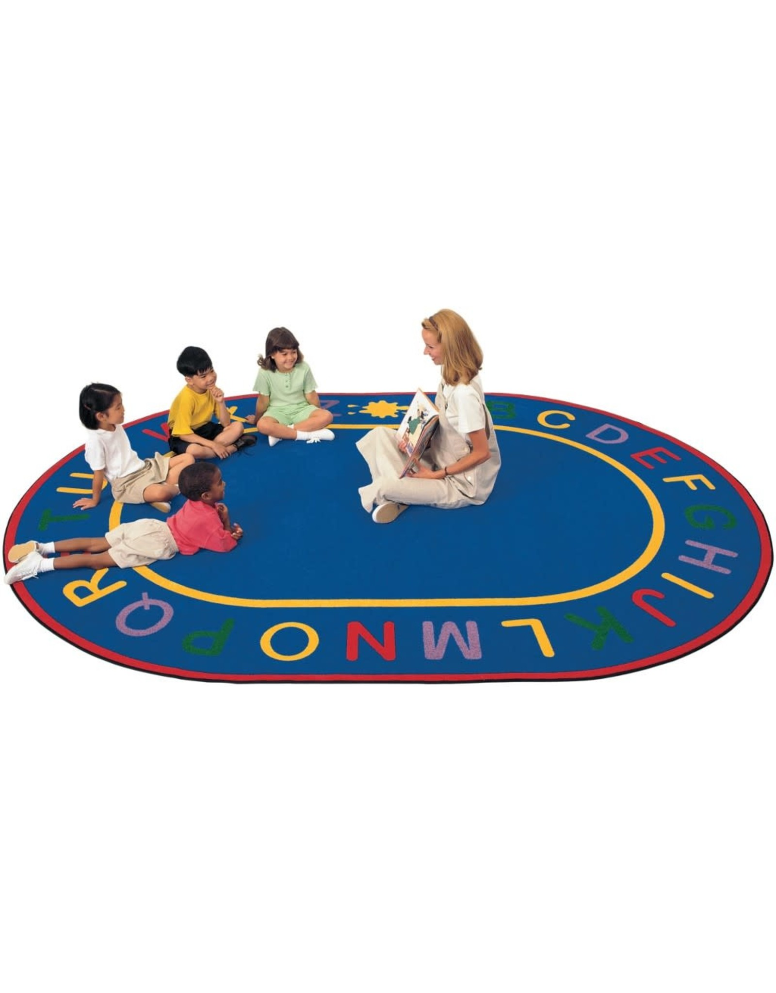 "Carpets for Kids Oval Alpha Rug Carpet 6'9"" x 9'5"""