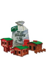 Roy Toy Roy Toy Earth Friendly Deluxe Log Building Set 250pc