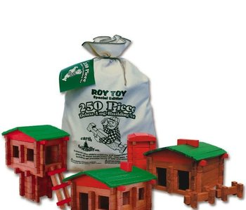 Roy Toy Earth Friendly Deluxe Log Building Set 250pc
