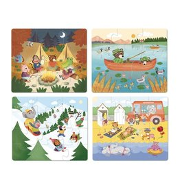 Vilac Holidays Wooden Puzzles 6, 9, 12, 16pc